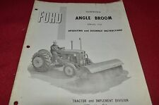 Ford Tractor 721 Angle Broom Operator's Manual Chpa