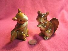 Vintage Sitting Whimsical Squirrel Salt and Pepper Shakers Relco            60