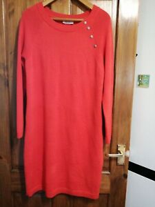 Ladies Per Una Size 14 Orange Long Sleeved Dress