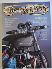 Classic Bike Magazine. February, 1986. AJS Big Port. Drixton Honda. Indian 4.