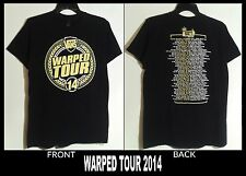 WARPED TOUR T-SHIRT 2014 (MEDIUM, 2-SIDED BLACK) PUNK ALTERNATIVE CONCERT, RARE