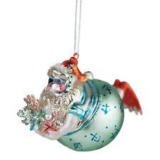 Diver Father Christmas Glass Tree Bauble Decoration Santa Ornament