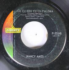 50'S & 60'S 45 Nancy Ames - Cu Cu Rru Cu Cu Paloma / Bonsoir Cher On Liberty Rec