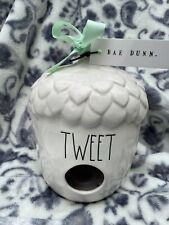 """rae dunn acorn birdhouse """"Tweet� Large letter Brand New With Tags"""