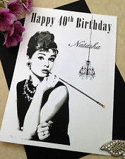 Large Handmade Personalised Audrey Birthday Card - Sister Mum Friend Aunt