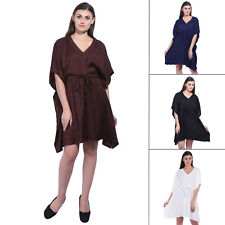 Rayon Short Kaftan Women's Free Size Night Wear Top Dress Maxi For Gift