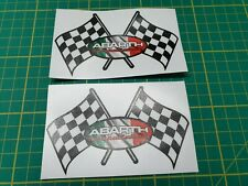 Fiat 500 / 595 / 695 Abarth Competizione wing Decals / Stickers 100mm wide