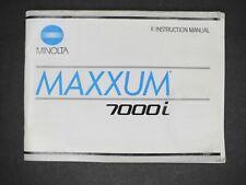 Minolta Maxxum 7000i 1988 Camera Instruction Book / Manual / User Guide