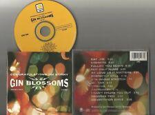 Gin Blossoms - Congratulations...I'm Sorry CD 1997 A&M 13trx US Follow You Down
