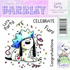 New - Crafter's Companion - Rubber Stamps - Everyday With Barkley - Lets Party