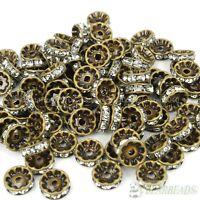 100Pcs Czech Crystal Rhinestones Bronze Rondelle Beads 4mm 5mm 6mm 8mm 10mm 12mm