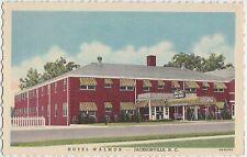 1948 JACKSONVILLE North Carolina NC Postcard HOTEL WALMOR Linen Roadside