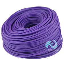 10 meters Shakmods Round 4 mm High Density Purple Braided Expandable Sleeving UK
