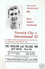 More details for programme, barry staton testimonial , norwich city 1964