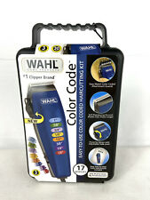 NEW WAHL Color Code 17 Piece Complete Haircutting Kit Hair Clippers Home HairCut
