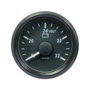 VDO SingleViu 0247 Voltmeter 16-32V 52mm - 2 1/16' Schwarz A2C3832780001