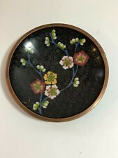 Antique Chinese Cloisonne Champleve Enamel Small Dish Floral Plate 4.5�