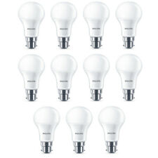 11x Philips LED Frosted B22 75w Warm White Bayonet Cap Light Bulbs Lamp 1055Lm