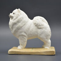 M7 Samoyed Dog Set Statue Figure Home Collector Decor Si amoyed Resin Toy Gift