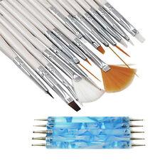 20PCS Nail Art Design Painting Drawing Brushes Nail Polish Brush Pen Tools Set