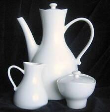 HALL SET COFFEE POT CREAMER SUGAR BOWL MID CENTURY ERNEST SOHN SIGNED 3 PIECE
