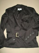 Irene Van Ryb Cotton Blend Belted Jacket-Size 44-US 10