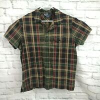 Ralph Lauren Men's Polo Shirt Pima Plaid Cotton Collared  Golf Shirt XL