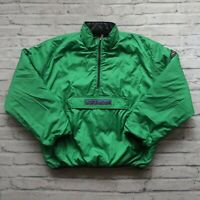 Vintage 90s Polo Sport Ralph Lauren Quilted Reversible Jacket Pullover Size XL