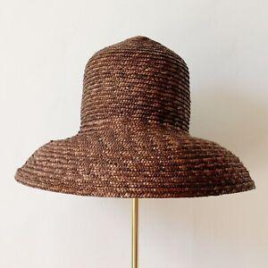 Laura Ashley Brown Straw Sun Hat - Small Ladies