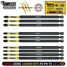SabreCut Mixed Impact Screwdriver Bits 152mm PZ2 PH2 Torx Milwaukee DeWalt