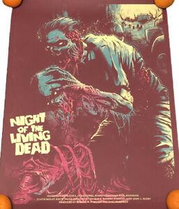 Godmachine Night of the Living Dead 18x24 Screen Print - 1 of 1 Rare Test Print