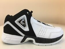 SHAQ # 52630 Men Shoes Leather White / Black Size 10 Athletic Basketball Sport
