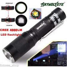 4000LM Zoomable CREE XM-L Q5 LED Taschenlamp Fackel Super Bright Licht Lampe