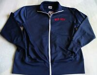 XL Majestic MLB Boston Red Sox Full Zip Athletic Jacket,Navy w/Embroid. Red Logo