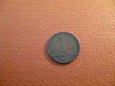 1936 Austria 1 Groschen coin