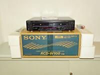 Sony RCD-W100 Audio CD-Recorder / Doppellaufwerk in OVP w.NEU, 2J. Garantie