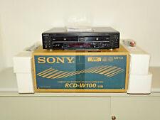 Sony rcd-w100 audio CD-grabador/doble unidad en OVP w. nuevo, 2j. garantía