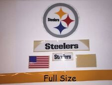 Pittsburg Steelers F/S-Football Helmet DECALS/COMPLETE SET WITH SIDE/ EXTRAS Rx