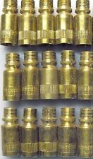 "Lot of 15 Brass Floor Lamp Swivels 1/8"" IPS threads NOS Lamp Parts."