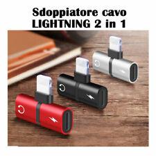 Adattatore sdoppiatore cavo LIGHTNING 2 in 1 RICARICA e AURICOLARI per iphone