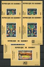 BENIN-DAHOMEY Bl.24-29 ** FUSSBALL-WM 1974 UNGEZÄHNTE BLOCKS !!! (129453)