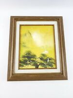 Morning Mist Oil Painting Signed by W K Chan Certificate of Authenticity Framed