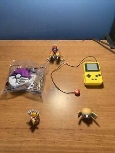 5 POKEMON TOY LOT Bandai Tiny Nintendo McDonalds Happy Meal Toy