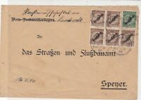 Germany 1924 Lambrecht  Multiple Cancel & Stamps Cover ref 22949