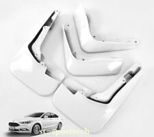 For Ford Fusion Mondeo 2013-2018 White Mud Flaps Splash Fenders Mudguards 4PCS