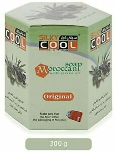 Silky Cool Extra – Moroccan bath soap With Olive Oil Black Soap – 300g