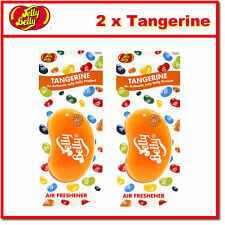 2 x Jelly Belly 3D Bean Hanging Car Air Freshener - Tangerine Scent