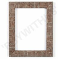 Shabby Chic Rustic Wood Grain Picture Frame Photo Frame Wall Decor  Walnut