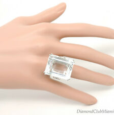 Ivanka Trump 18k White Gold Diamond & Crystal Rock Signature Oval Cocktail Ring