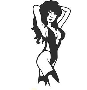 Sexy Lady Silhouette Pole Dancer Laptop Vinyl Car Camper truck Sticker SM161